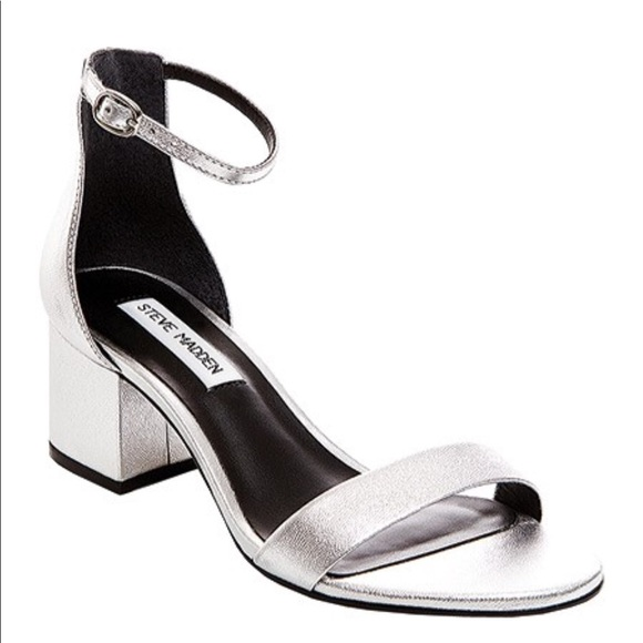 26b7297483d Silver Steve Madden low heel